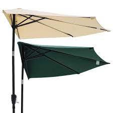 thela 10 ft patio half umbrella off