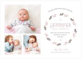 Sibling Birth Announcement Brown Linen With Pink Sibling Baby Announcement Birth Announcements