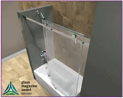 this award recognizes the best s and s offered by the commercial retail and fabrication markets serenity frameless sliding shower door
