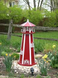 How to build a 6 ft. Exceptional Garden Lighthouse 3 Garden Lighthouse Plans Free Lighthouse Woodworking Plans Wood Lighthouse Garden Lighthouse
