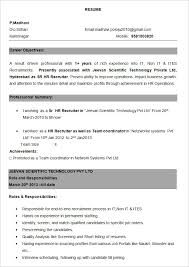 Experienced Resume Template Bpo Resume Template 22 Free Samples Examples  Format Download Free