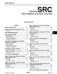 2012 nissan 370z srs airbag control system section src pdf 2012 nissan 370z srs airbag control system section src 341 pages