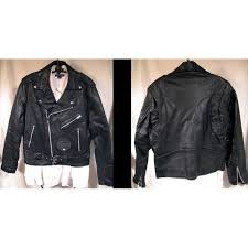 fantastic classic black leather motorcycle jacket with zipper cuffs