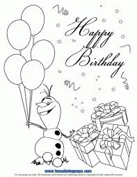 Happy Olaf Coloring Page Disney Frozen Birthday Coloring Pages