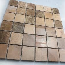 stone tiles mosaic tile brown kitchen backsplash wall sticker mosaic fireplace border natural marble backsplash tile
