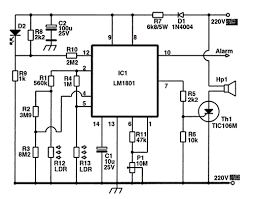 & led smoke detector fire alarm circuit using ic 555 at System Of A Fire Alarm Circuit Diagram