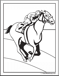 The best free, printable horse coloring pages! Race Horse Coloring Page