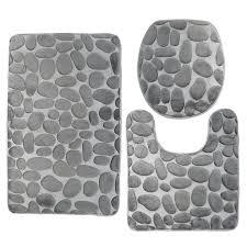 bathroom contour rug 3 piece bathroom rug mat set memory foam and for bathroom contour rug