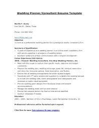 Event Planner Resume Impressive Wedding Planner Resumes Event Resume Cooperative But Accessoires