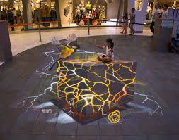 3d street painting in europe stuttgart