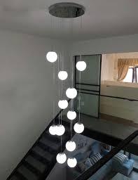 12 Glaskugeln Treppenhaus Kronleuchter Moderne