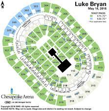 Seating Chart Chesapeake Energy Arena Luke Bryan Chesapeake Energy Arena