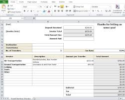 Get Invoice Format In Excel For Travel Agency Background