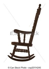 rocking chair drawing. Contemporary Drawing Old Wooden Rocking Chair On White Background  Csp20114245 Intended Rocking Chair Drawing S
