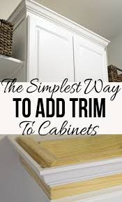 Kitchen Cabinet Upgrades Fascinating The Easiest Way To Add Trim To A Cabinet Blogger Home Projects