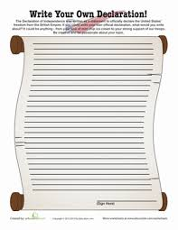 all american printables com write your own declaration