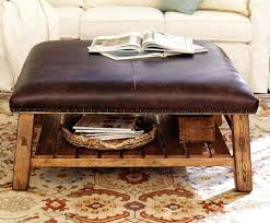 lovely round leather ottoman coffee table with inside plan circular