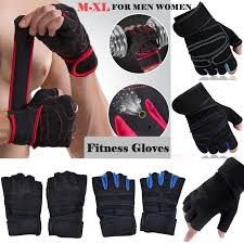 details about 1x weight lifting gloves gym exercise workout training yoga body building grips