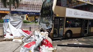 Bus accident asian group