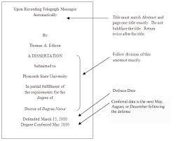 Dissertation Proposal Structure
