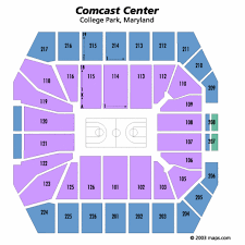 Xfinity Center Seating Chart
