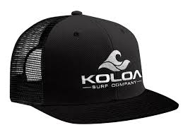 Koloa Surf Premium Embroidered Classic Wave Logo Mesh Snapback Trucker Hat Co.