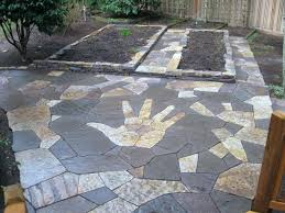flagstone patio pavers natural stone cost canada with grass joints