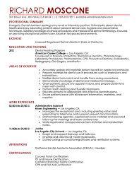sample dental assistant resume certified dental assistant resume