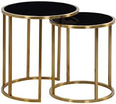 Built-in Coffee Table Set, High and Low Side Table ... - Amazon.com