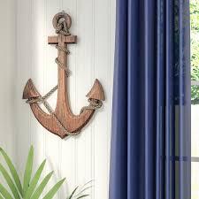 vibrant idea anchor wall decor best of beachcrest home nautical wood reviews wayfair target for nursery hobby lobby canada with