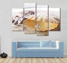Living Room Canvas Paintings Aliexpresscom Buy Free Shipping 4 Panels Oil Painting Beautiful