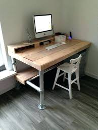 diy rustic desk adorable ideas with best pipe on home furnishings writing diy rustic desk