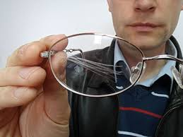 most lenses have layers scratched eyeglass lens