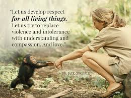 Jane Goodall Quotes Delectable Let Us Develop Respect For All Living Things Let Us Try To Replace