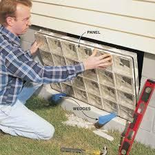 install the glass block window