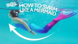 How To Swim Like A Mermaid   Fin Fun <b>Mermaid Tails</b> - YouTube