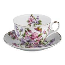 Купить <b>Пара чайная LEFARD Весна</b> с бабочкой 250мл, фарфор ...