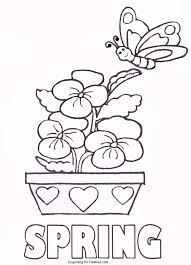 simplified springtime coloring pages free printable spring