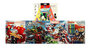 Iron man super speed coloring pages,iron man super speed coloring pages kids tv,iron man coloring kids fun music: Marvel Avengers Super Coloring Bundle With Crayons Stickers Captain America Thor Hulk Iron Man And A Mickey Mouse Activity Pad Educational Toys Planet