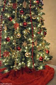 christmas trees decorated in red and gold. Brilliant And Red And Gold Christmas Tree  Michaels Dream Challenge  JustAddMichaels Intended Trees Decorated In And M