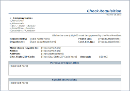 blank check request form template