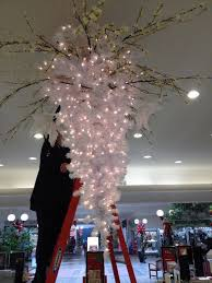 new winter wonderland chandelier start with a white tree hung like a for chandelier tree