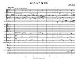 Woody N Me Big Band Full Score Score Parts