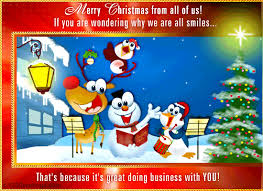 Merry Christmas From All Free Business Greetings Ecards Greeting