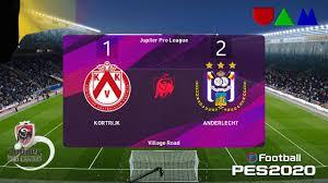 Kortrijk vs Anderlecht: Jupiler Pro League, 23 October 2020 | eFootball PES  2020 - YouTube