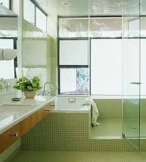 a great mix walk in shower and bathtub in one