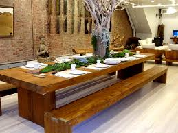 small dining bench:  agreeable long dining bench beautiful dining room decoration ideas with long dining bench