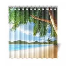 interestprint beach palm tree custom shower curtain polyester fabric bathroom sets home decor