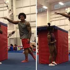 Simone Biles' Boyfriend Box Jumps Her ...