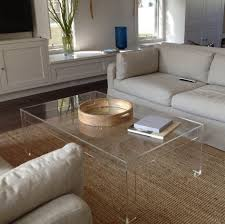 clear acrylic coffee table diy furniture clear a dad dc c fad ecc df